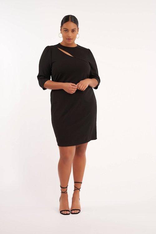 ms-mode-jurk-met-open-detail-zwart-zwart-8719216835673