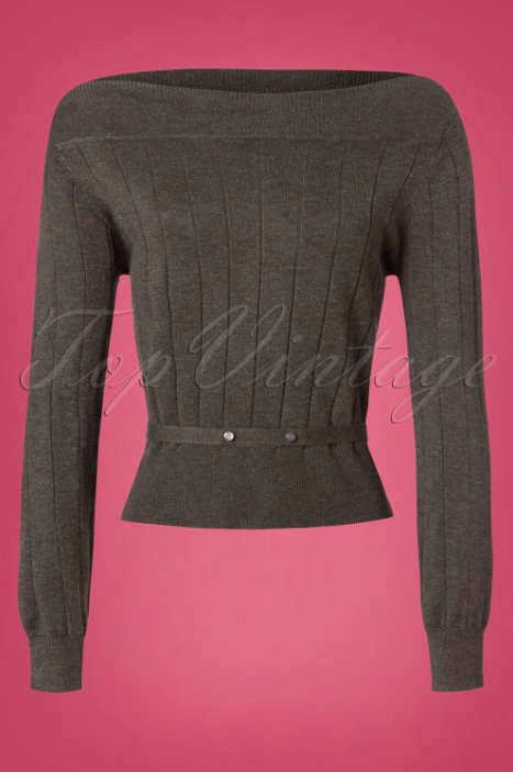 Banned-Retro-60s-Violetta-Knitted-Top-in-Grey