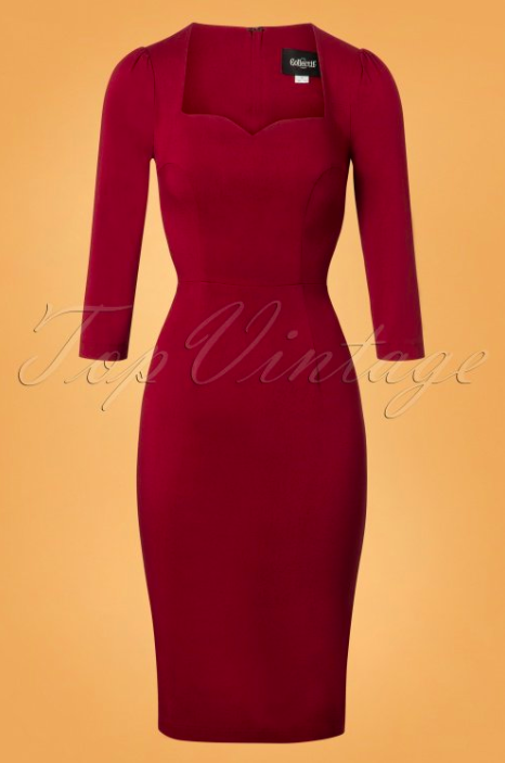 Collectif-Clothing-50s-Vanessa-Pencil-Dress-in-Burgundy