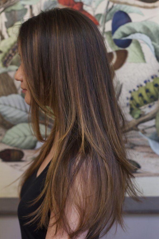 Balayage kapsels en haarkleuren