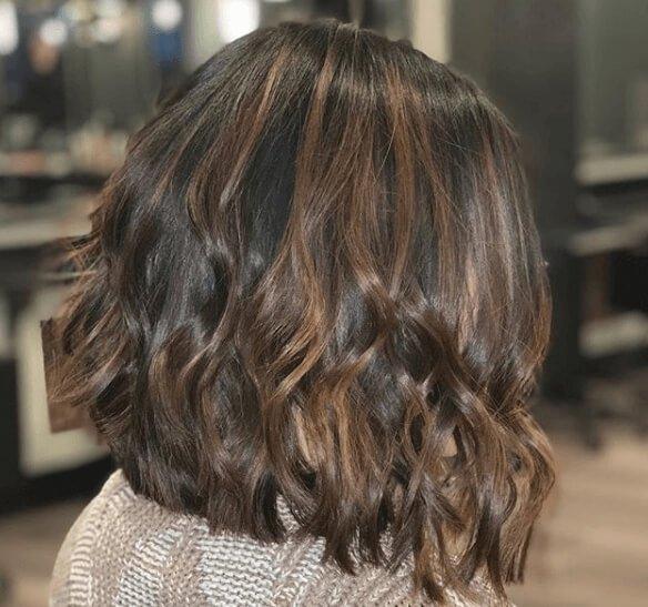 lange-bob-bruine-haarkleur