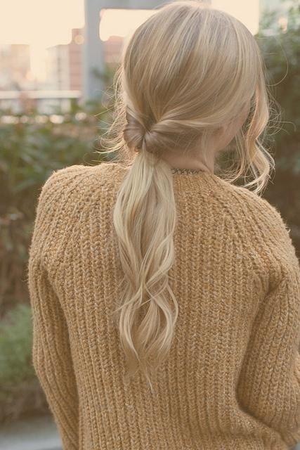 paardenstaart-blond