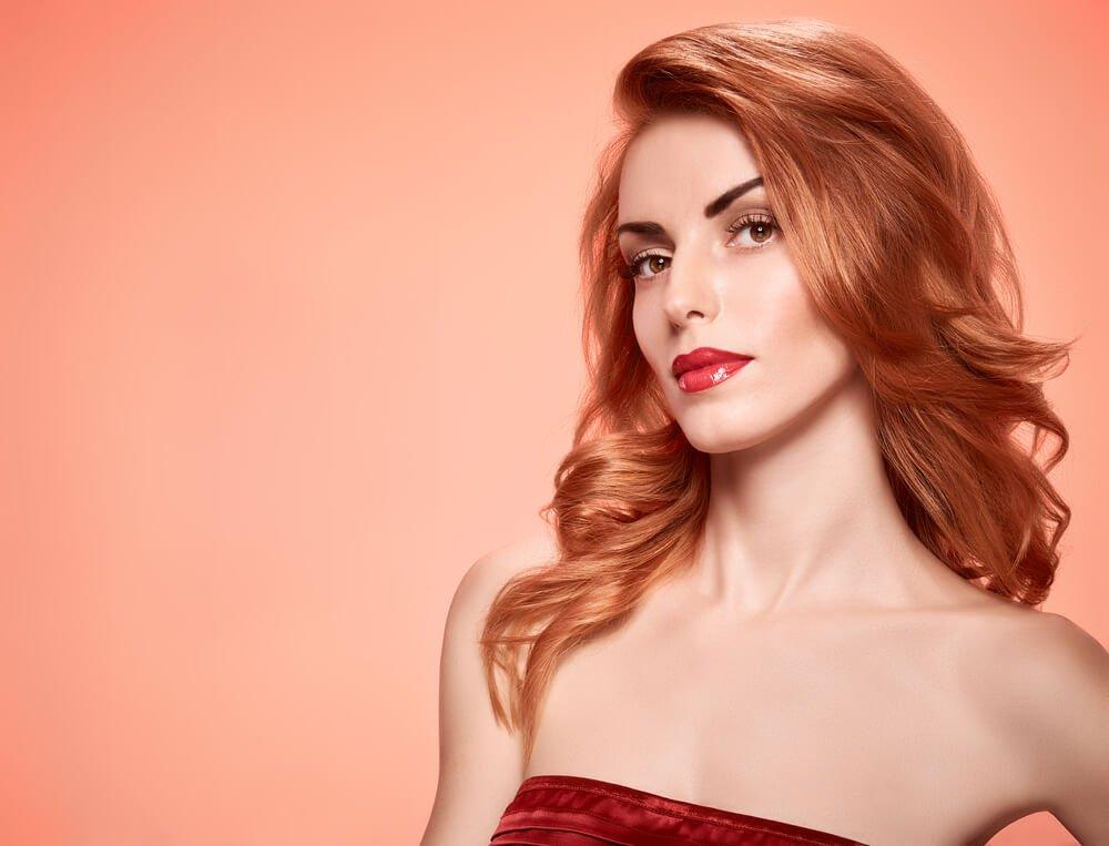 rood-haar-rode-lipstick