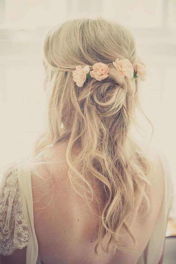 trouwkapsels-bloemen