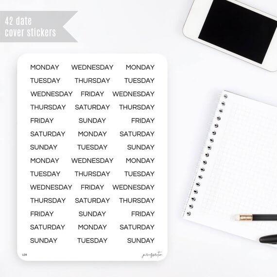date-stickers-bullet-journal-weekdagen