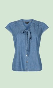 kinglouie-bow-blouse-chambray