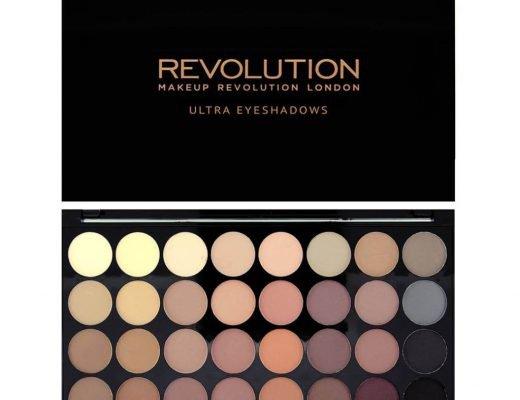 makeup revolution ultra 32 eyeshadow palette flawless matte 1