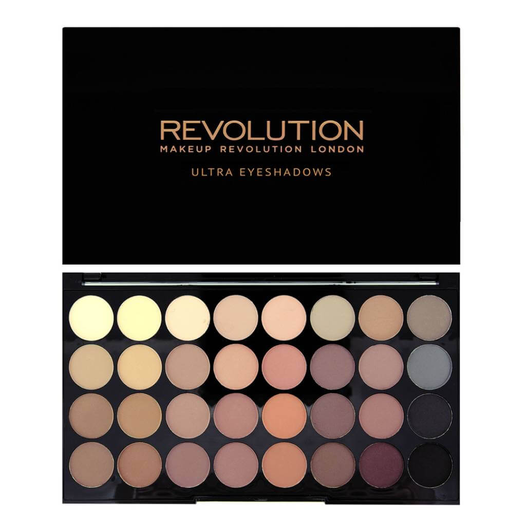 makeup revolution ultra 32 eyeshadow palette flawless matte 1