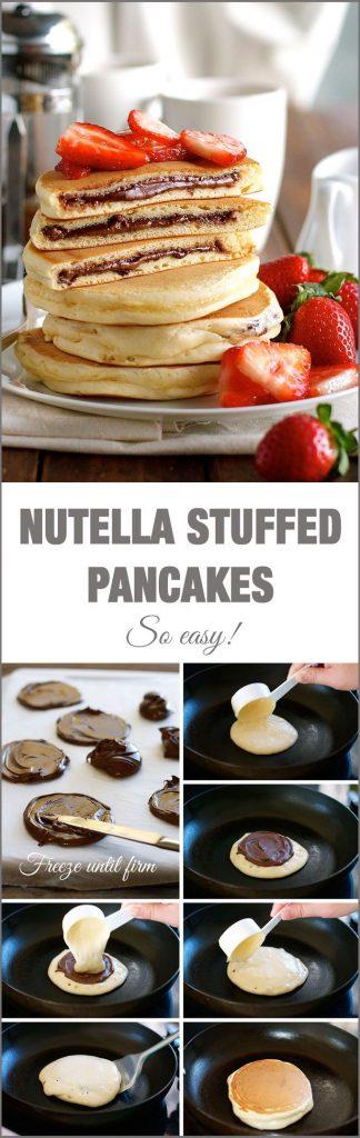 nutella pannenkoeken pancakes
