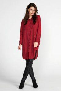steps-blousejurk-met-stippen-en-ceintuur-rood-rood-8718303554381