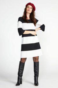 steps-gestreepte-a-lijn-jurk-zwart-en-wit-zwart-8718303549981