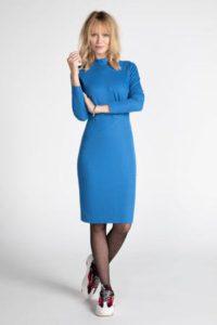 steps-jersey-jurk-met-plooien-blauw-blauw-8718303569477