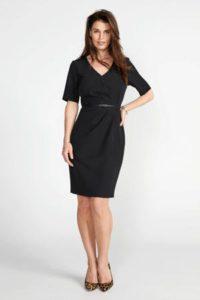steps-jurk-met-ceintuur-zwart-zwart-8718303561181