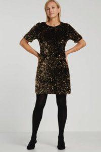 steps-jurk-met-glitters-zwart-zwart-8718303571067