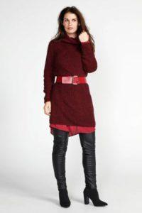 steps-jurk-met-open-detail-bordeaux-rood-rood-8718303569057