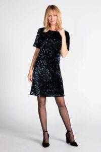 steps-jurk-met-pailletten-zwart-zwart-8718303570992