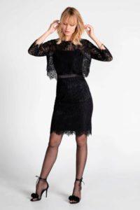 steps-semi-transparante-kanten-jurk-zwart-zwart-8718303571623