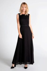 steps-semi-transparante-maxi-jurk-met-sierstenen-zwart-zwart-8718303576185