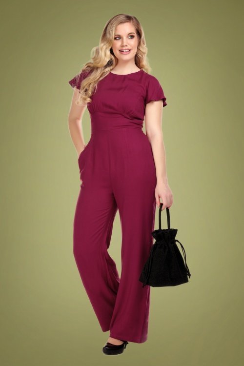 Collectif-Joelyn-Plain-Jumpsuit-in-Wine
