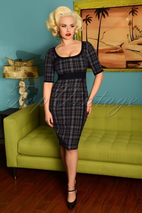 Glamour-Bunny-Emily-Pencil-Dress-in-Gingham