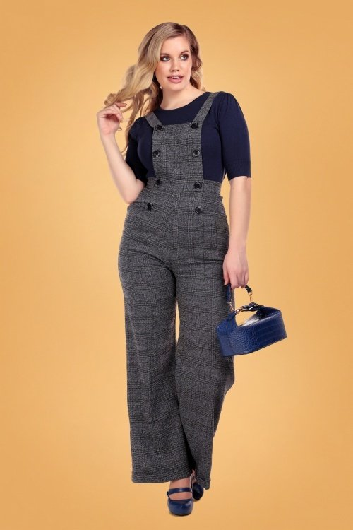 Collectif-Brenda-Librarian-Check-Dungarees