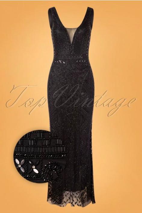 jaren 20 maxi dress