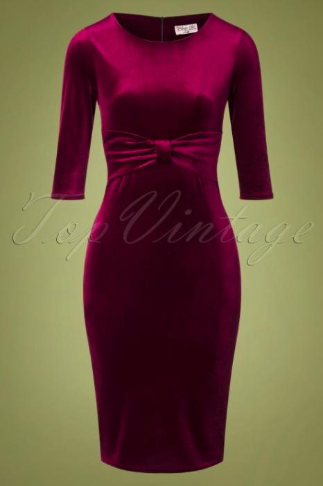 rode velours spannende jurk