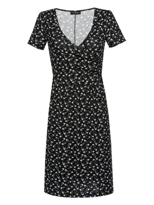 Vive-Maria-New-Wrap-Dressing-schwarz-Allover-Print-