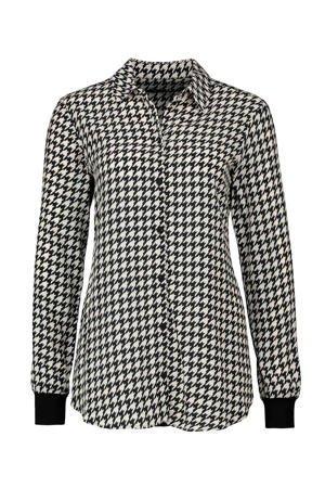 expresso-blouse-met-pied-de-poule-zwart-wit-zwart-8720019044391