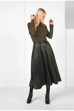 expresso-coated-plisse-rok-zwart-zwart-8720019043202