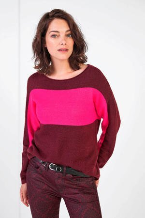 expresso-fijngebreide-trui-bordeaux-roze-rood-8720019053331