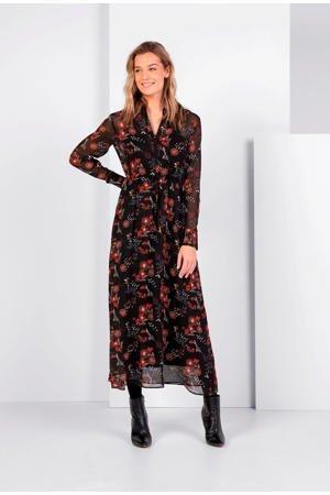 expresso-gebloemde-semi-transparante-blousejurk-zwart-zwart-8720019044254