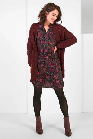 expresso-gehaakte-jurk-met-all-over-print-en-open-detail-zwart-roze-zwart-8720019044865