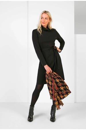expresso-jurk-met-ceintuur-zwart-zwart-8720019048924