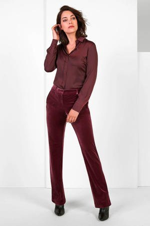 expresso-satijnen-blouse-met-plooien-bordeaux-rood-8720019045350