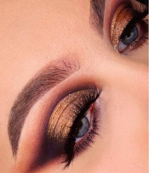 gouden-makeuplook-feestdagen
