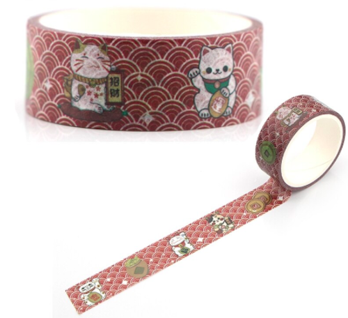 lucky-cat-washi-tape