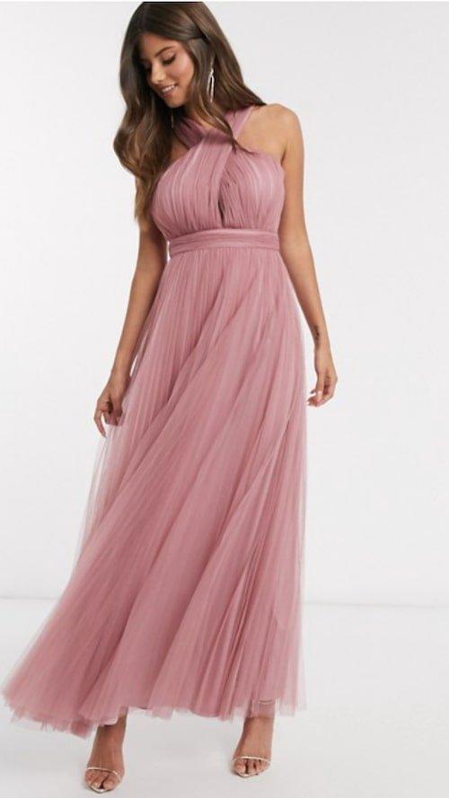 roze-trouwjurk