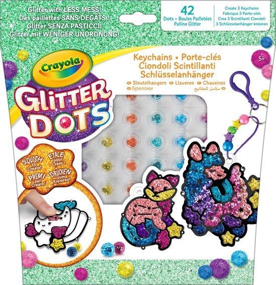 glitter-dots-sleutelhangers
