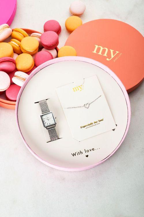 giftbox-horloge-hartjes-armbandje